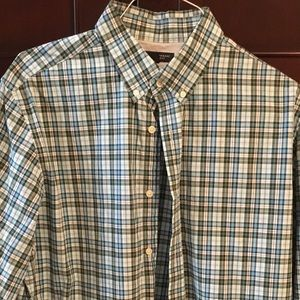 Banana Republic men's XL button down plaid shirt